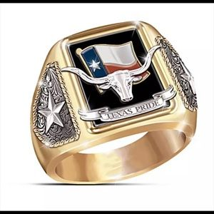 Brand new Texas Pride size 9 ring